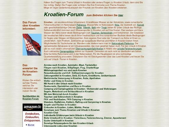 Screenshot von www.kroatien-forum.com